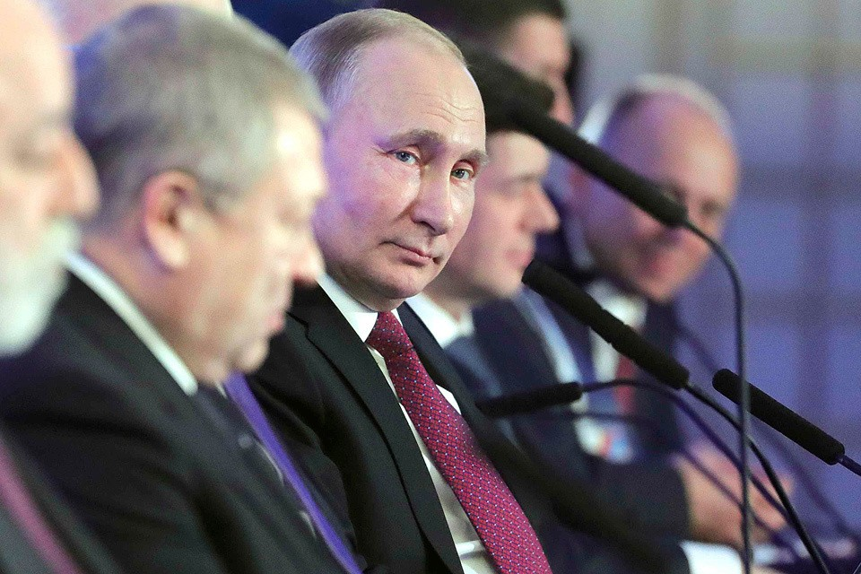 Владимир Путин на XXVII отчетно-выборном съезде Российского союза промышленников и предпринимателей.