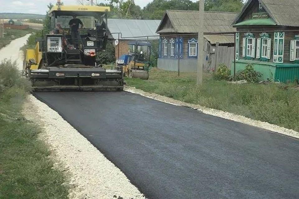 Ремонт дороги в селе Черкасское