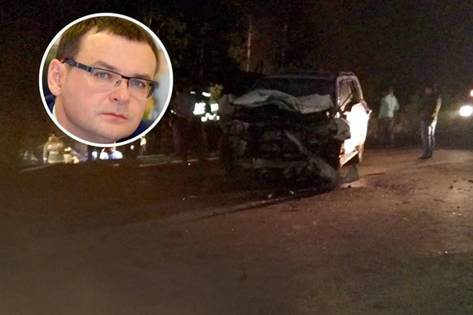Автомобиль спикера Еремеева после ДТП