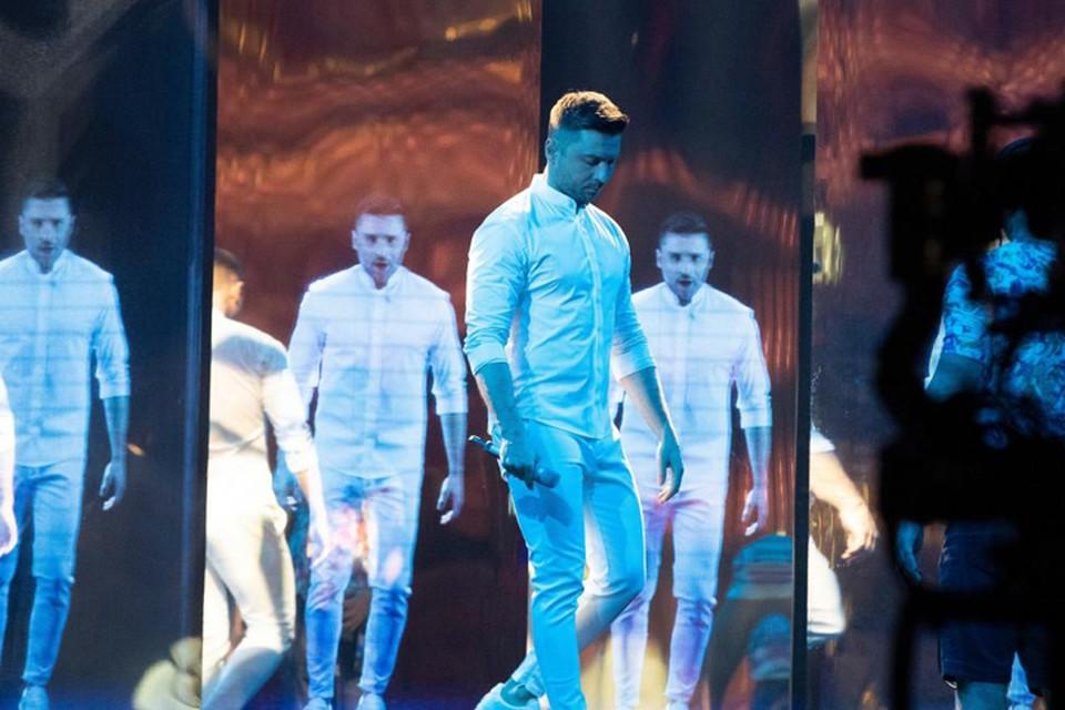 Сергей Лазарев во второй раз поднялся на сцену «Евровидения» для репетиции своего «Крика»