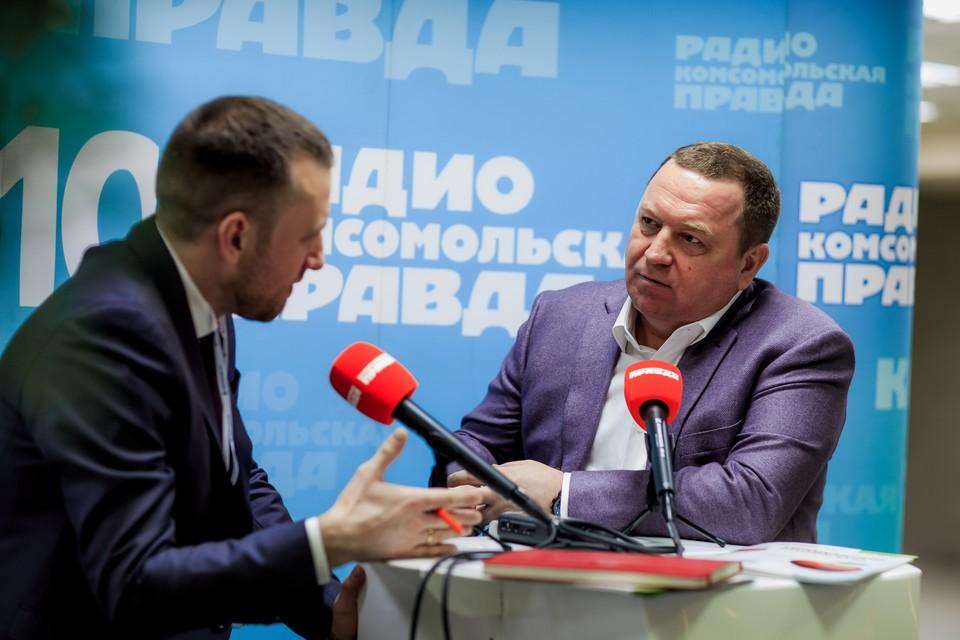 Президент «Группы Компаний Кабош» Дмитрий Матвеев в Открытой студии Радио «Комсомольская правда».