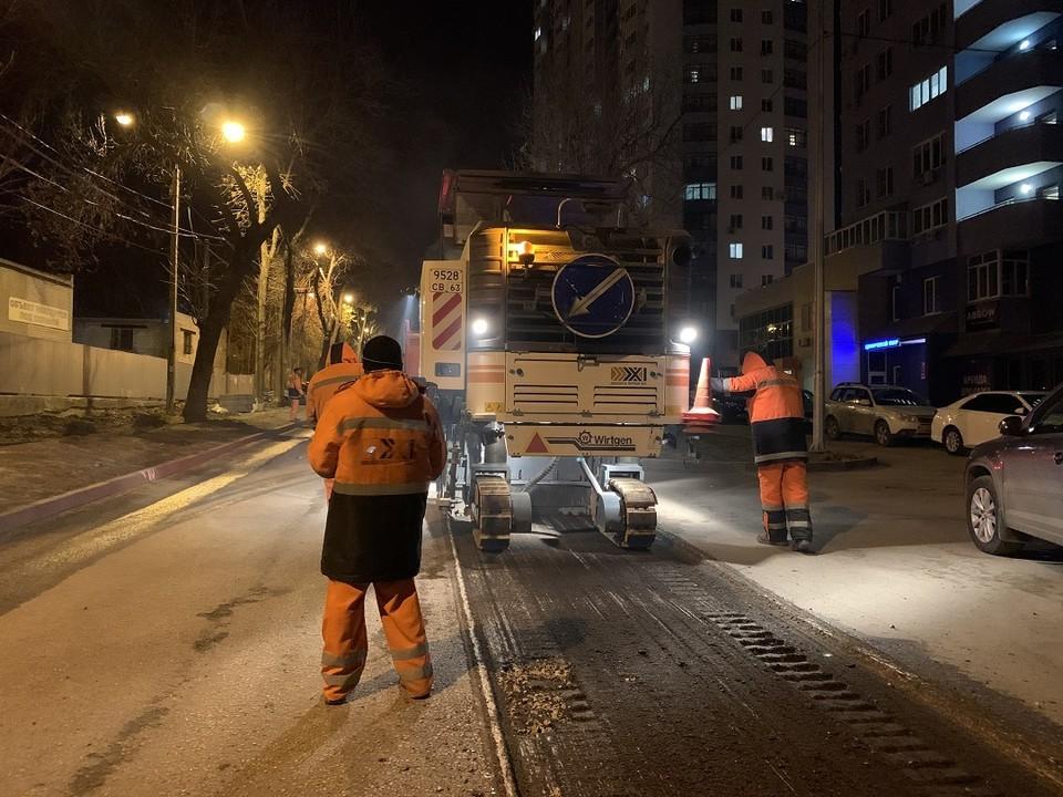 Улицу Луначарского в Самаре реомнтируют
