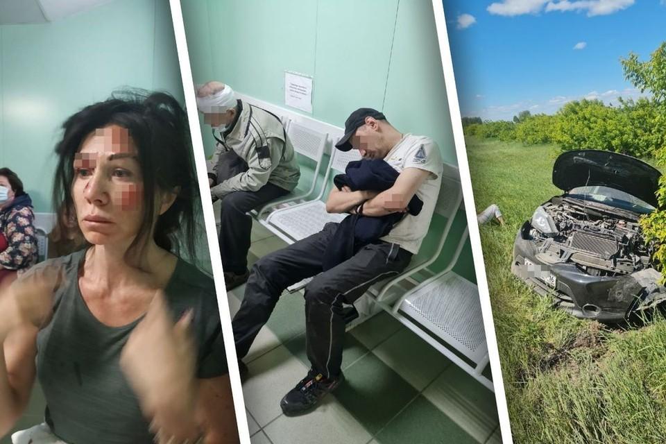Сибирячка, пострадавшая в тройном ДТП на трассе в Искитимском районе, рассказала подробности аварии. Фото: представлено Татьяной