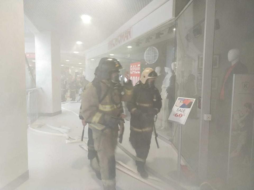 135 человек эвакуированы с пожара в тульском «Гостином дворе»