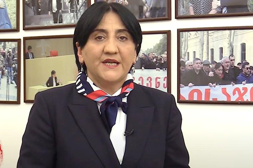 Лидер оппозиционной грузинской партии «Альянс патриотов» Ирма Инашвили. Фото: YouTube