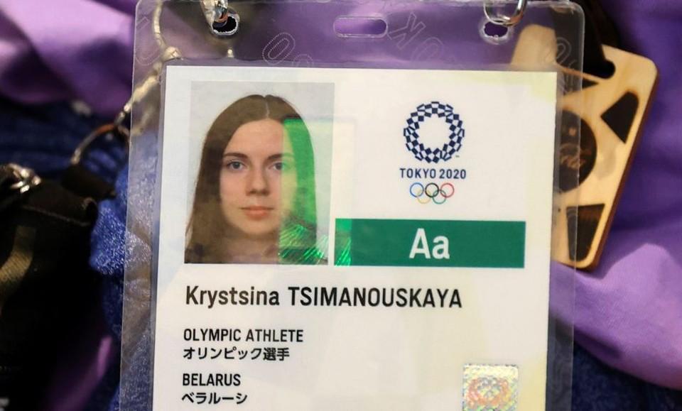 Белорусская легкоатлетка Кристина Тимановская прибыла в аэропорт для вылета в Варшаву