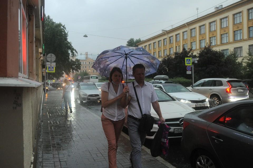 Над Петроградской стороной прошел ливень.