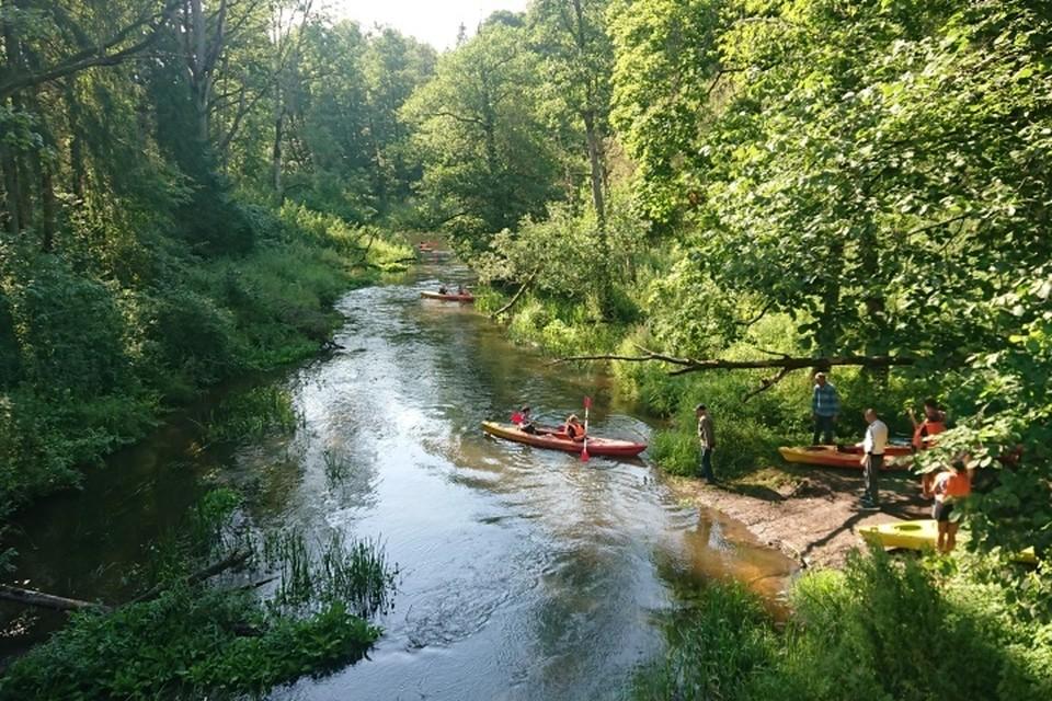 Сплав по реке Красной начинается возле Оленьего моста.