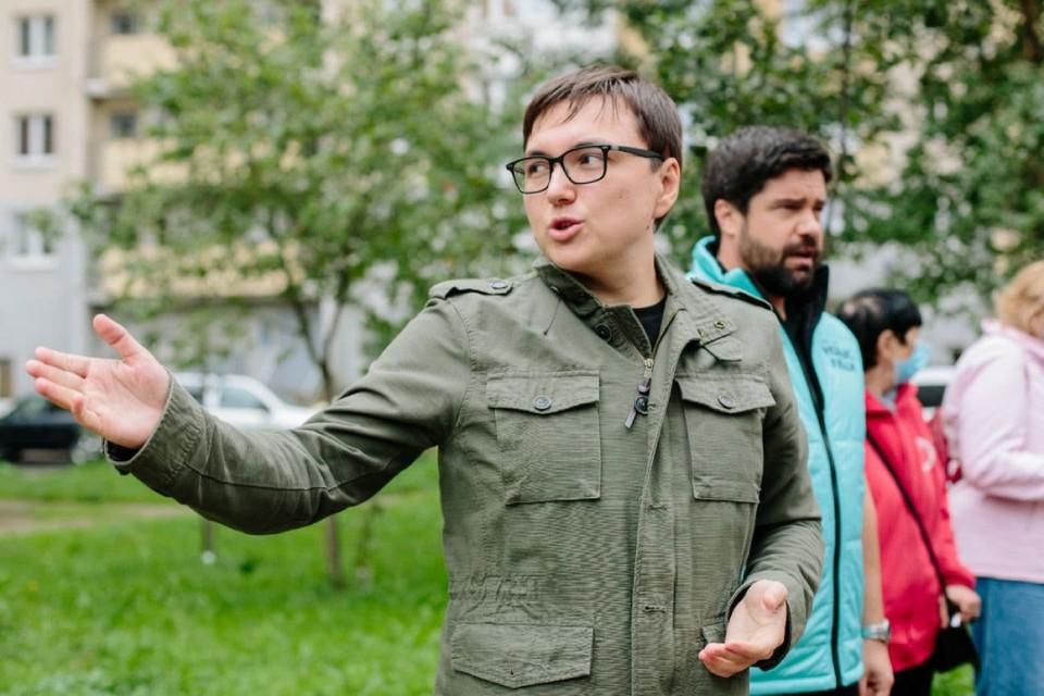 На встрече с жителями Красногвардейского района Калимуллин рассказал о реформировании правоохранительной системы.Фото предоставлено пресс-службой партии «Новые люди».