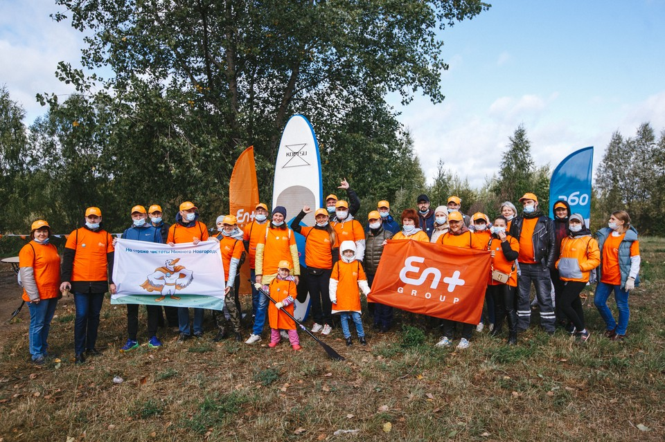 Вместе с сотрудниками ГК «Волгаэнерго», которая входит в En+ Group, на уборку озера выходят и неравнодушные нижегородцы.