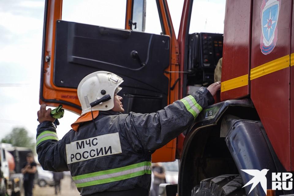 Возгорание тушили 11 пожарных