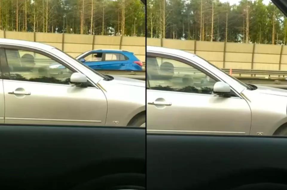 Полиция ищет водителя «Инфинити», посадившего малолетнего ребенка за руль
