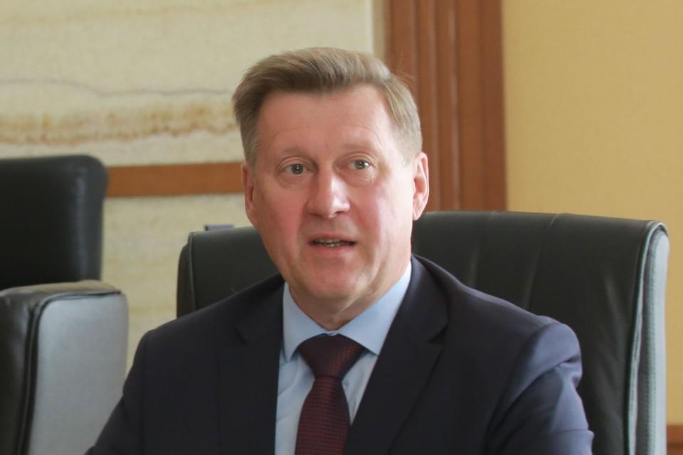Анатолий Локоть ответил на вопросы журналистов. Фото: предоставлено мэрией Новосибирска.