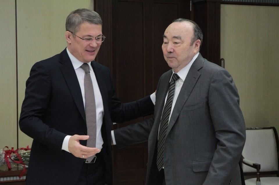 Радий Хабиров с первым президентом Башкирии Муртазой Рахимовым