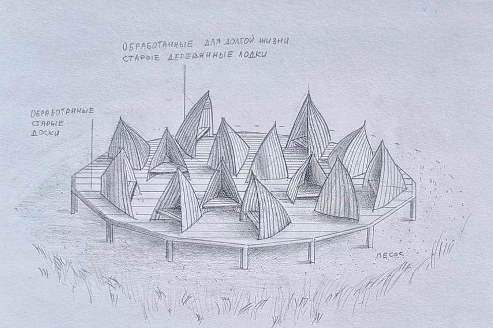 """Конструкцию предполагается разместить на берегу. Фото: """"Креативный класс"""""""