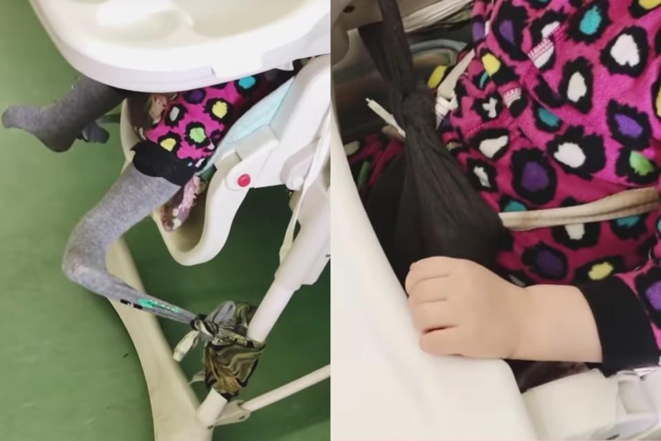В больнице Петербурга сироту привязывали к стулу колготками. Фото: скриншот видео / Instagram @blackmamba_psy