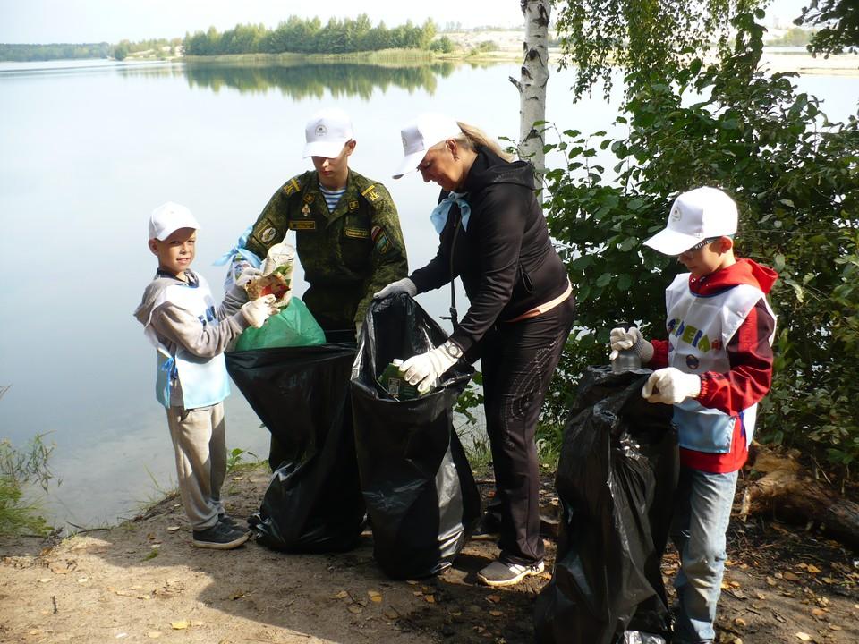 Одно из двух Силикатных озер очистили от мусора в Нижнем Новгороде Фото: организаторы акции «оБЕРЕГАй!»