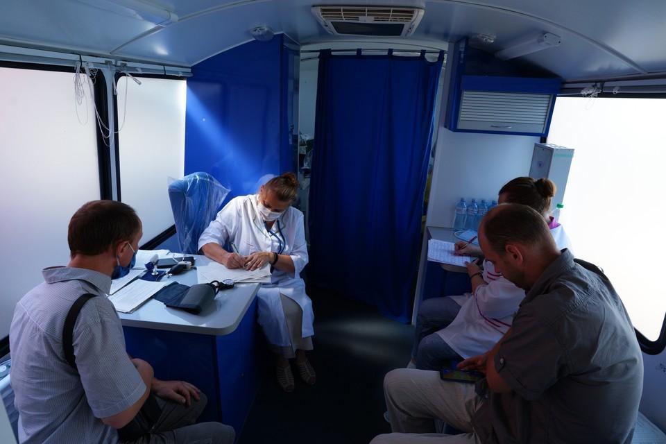 Мобильные пункты вакцинации от ковид в Орле
