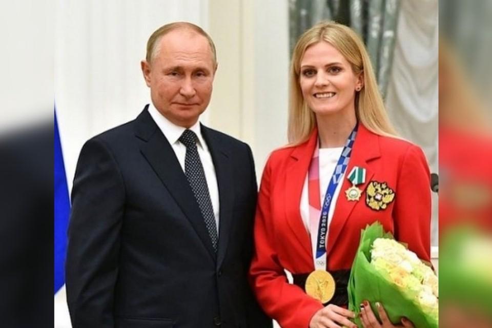 Владимир Путин и Марина Голядкина. Фото: instagram.com/marina_gold13