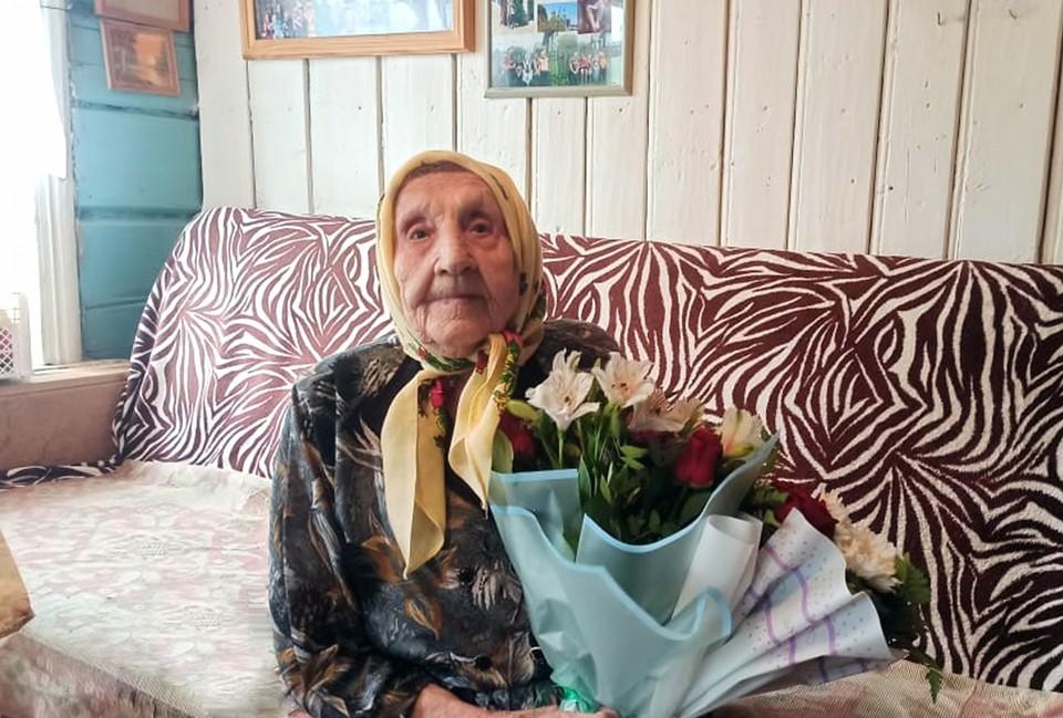 Участница Великой Отечественной войны Домна Николаевна Григорьева отмечает 100-летний юбилей