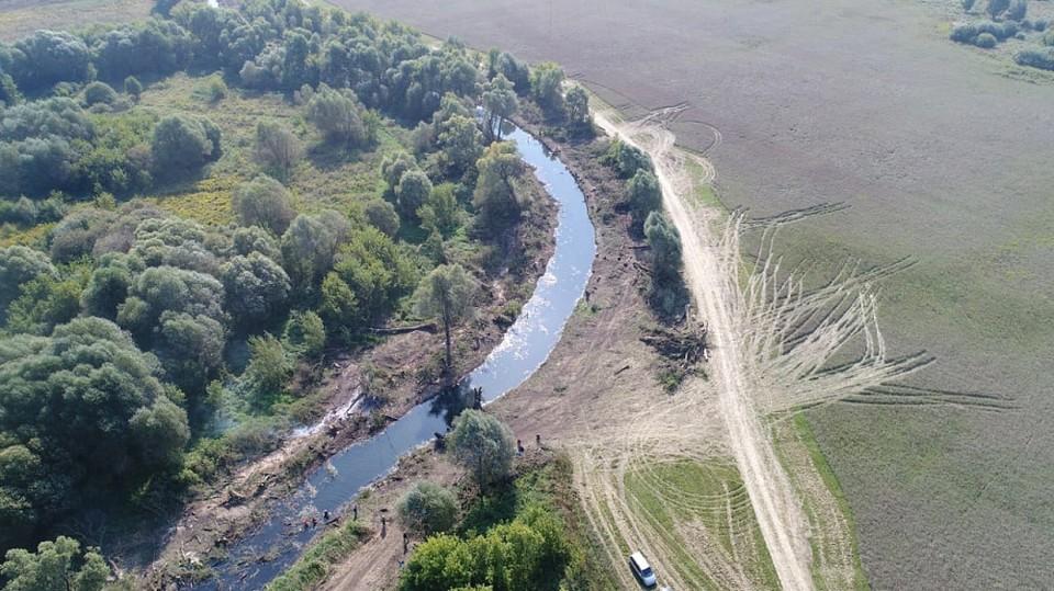 Река Шиворонь в Тульской области расчищена к весеннему паводку