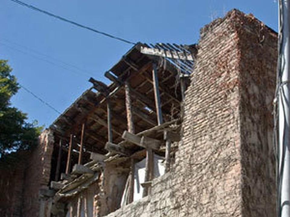 В рухнувшем доме никто не жил