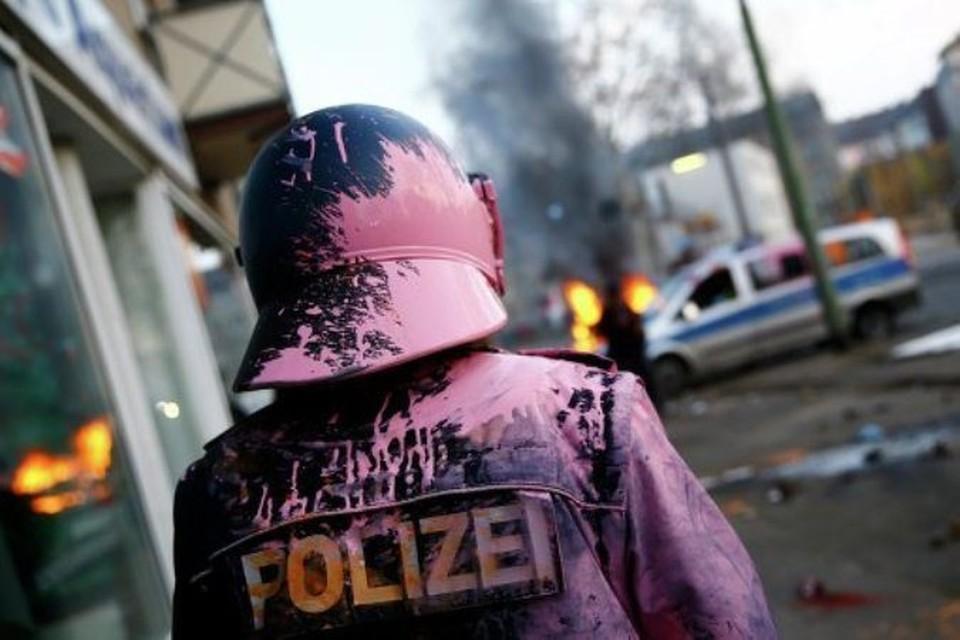 Полиция ФРГ задержала 350 протестк