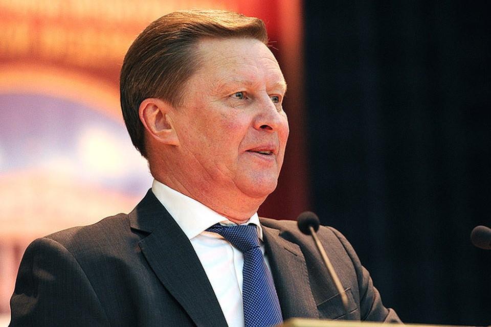 Сергей Иванов заявил, что санкции идут на пользу российскому производителю.